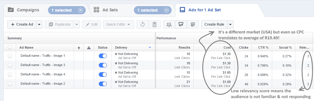 FB Ads - broad based targeting